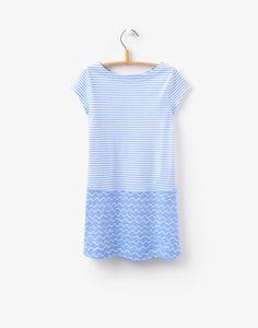 Sunshine Blue Wave Stripe Hotch Potch Dress | Joules US