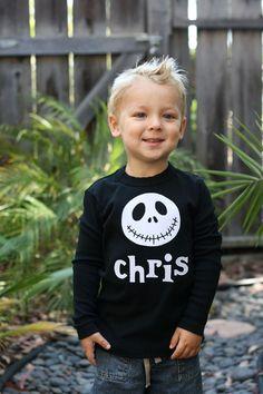 JACK Skellington Disney T-Shirt Personalized Boutique Appliqued Custom. $25.00, via Etsy.