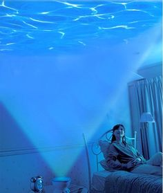 I used to live above a swimming pool and this is what I saw every night as I fell asleep. This mini wave projector can turn your room into an ocean for only $20.00 #a_mermaid_tale