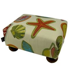 You'll love the Beach Shells Ottoman at Wayfair - Great Deals on all Furniture  products with Free Shipping on most stuff, even the big stuff.