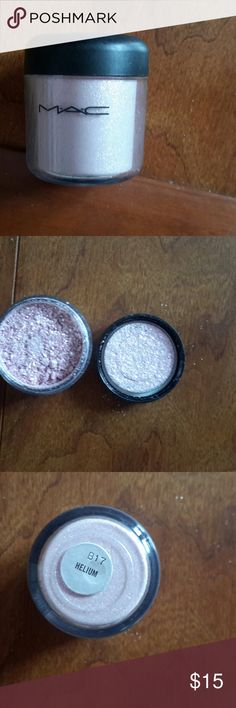 MAC Cosmetics Loose Pigment, Helium MAC Cosmetics Loose Pigment, Helium. This is a golden rose color. Light, iridescent. MAC Cosmetics Makeup Eyeshadow