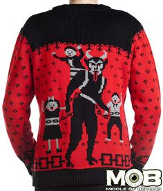 Krampus The Christmas Devil Knit Cardigan