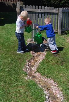 Pebble stream - if I ever have a hilly garden I need one of these! Maybe with a waterfall too!!!