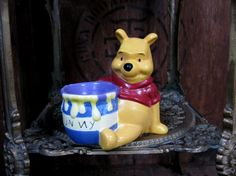 Winnie The Pooh Egg Cup, Winnie The Pooh, Disney Egg Cup, Vintage Winnie The Pooh, Vintage Disney, Disneyana, AA Milne, Pooh Bear