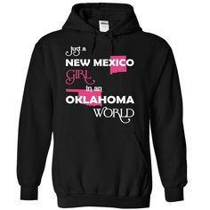 Just A New Mexico Girl In A Oklahoma World T-Shirts, Hoodies. Check Price ==> https://www.sunfrog.com/Valentines/-28NewMexico001-29-Just-A-New-Mexico-Girl-In-A-Oklahoma-World-Black-Hoodie.html?id=41382