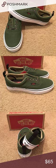 4e31baec9e Era PT Military Twill Vans New in box. Rifle Green Vans Shoes Sneakers  Green Vans