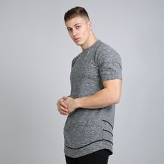 Staple Layered Longline T-shirt - Tumbled Grey  // Click the link to buy or for more info - https://www.king-apparel.com/new-collection/t-shirts/staple-layered-longline-t-shirt-heather-grey.html