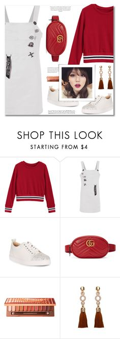 """Go Back-to-School Shopping!"" by defivirda ❤ liked on Polyvore featuring Christian Louboutin, Gucci and Urban Decay"