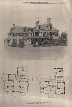 Victorian House Plans, Vintage House Plans, Victorian Homes, House Plans And More, Best House Plans, House Floor Plans, Historical Architecture, Residential Architecture, Architecture Design