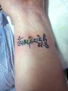 Om mani padme hum wrist tattoo. Living Art Studios, Penn Hills, PA