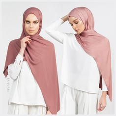 INAYAH | Blushing hues - Washed Blush Light Rayon Hijab Matte Truffle Soft Touch Rayon Hijab www.inayah.co