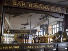 The Bar at the Havana Club Rum Factory, Havana, Cuba, West Indies, Central America