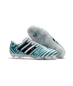 the best attitude ce7ed c1ea0 Adidas Messi Nemeziz 17.1 FG FODBOLDSTØVLE BLØDT UNDERLAG fodboldstøvler blå  hvid sort