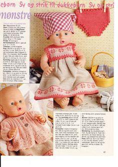 Album Archive - Dukketøj til Baby Born 2 - Ingelise Knitting Dolls Clothes, Crochet Baby Clothes, Knitted Dolls, Doll Clothes Patterns, Doll Patterns, Ag Dolls, Reborn Dolls, Girl Dolls, Barbie Dolls