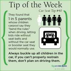 1 in 5 parents confess they bend the car seat rules with driving a or letting