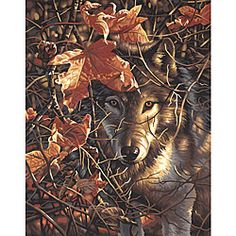 @Overstock - Create a magnificent work of art with this paint by number kit from Dimensions  Paint set features an image that can be reproduced using a few easy techniques  Craft painting kit depicts a wolf behind dried leaves and twisted brancheshttp://www.overstock.com/Crafts-Sewing/Dimensions-Autumn-Wolf-Paint-By-Number-Kit/3498288/product.html?CID=214117 $10.88