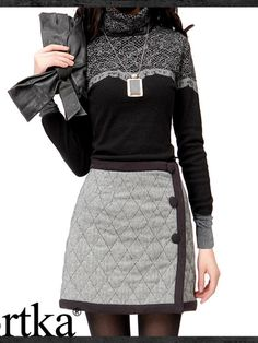 retro diamond wool skirt $105 #asianicandy #kawaii #japanese #kstyle #asianfashion #sweet #style #mori #artka