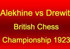 Alekhine vs Drewitt - Portsmouth 1923