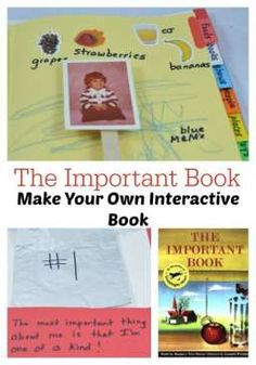 Make your own interactive book as a memory book of your child's favorite things at a certain age.