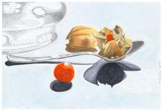 L'indecisione  2015 (30,5 x 45,5 pencil and watercolor on paper) https://www.facebook.com/Riflessi-e-trasparenze-di-Germana-Galdi-152645784768295/