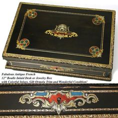 Card Holder Necessiare Rare Antique Black Forest Hand Carved Carnet Du Bal
