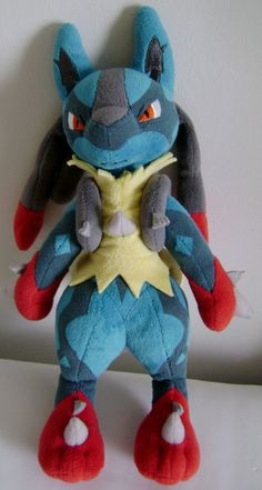 "Pokemon Mega Lucario Poké Plush 11"" Evolved Kalos Region Stuffed Animal #Pokemon"