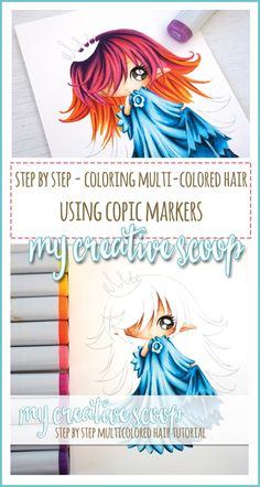 Step by Step - How to Color Multi-Colored Hair using Copics