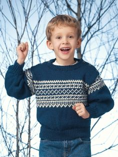 Free Pattern - #Knit this great winter sweater for kids from Patons Astra.