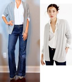 outfit post: grey open cardigan, white portofino shirt, wide leg jeans, snakeskin pumps http://outfitposts.com/2016/09/6606.html?utm_campaign=coschedule&utm_source=pinterest&utm_medium=Outfit%20Posts&utm_content=outfit%20post%3A%20grey%20open%20cardigan%2C%20white%20portofino%20shirt%2C%20wide%20leg%20jeans%2C%20snakeskin%20pumps