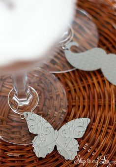 DIY Embossed Cuttlebug Drink Charms Tutorial from Skip to my Lou