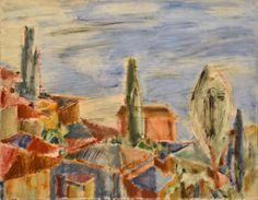 "Yury Ermolenko, ""Gurzuf. View from the window"" (Crimean series), 1997, oil on canvas, 70x90cm. #YuryErmolenko #еrmolenko #ЮрийЕрмоленко #ермоленко #yuryermolenko #юрийермоленко #юрийермоленкохудожник #юрiйєрмоленко #ЮрiйЄрмоленко #єрмоленко #rapanstudio #modernart #fineart #contemporaryart #painting #impressive #colorful #art #picture #живопись #artwork #PleinAir #пленэр #texture #фактура #landscape #crimea #крым #Gurzuf #view #гурзуф #вид #море #город #крыши #sea #town #roof"