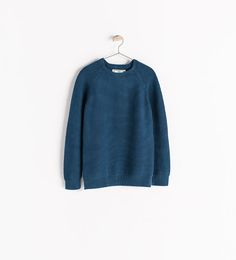 Image 1 of KNIT SWEATER WITH ELBOW PATCHES from Zara