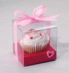 Caja de acetato para 1 cupcake