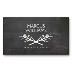 Rustic Tree Branches Logo on Chalkboard - Customizable Business Card Template(Cool Designs Tree Branches) Corporate Design, Business Design, Typography Inspiration, Design Inspiration, Rustic Logo, Name Cards, Tree Branches, Business Cards, Cool Designs