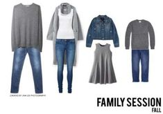 What to Wear: Family Session - Fall Outfit Jina Lee Photography Source by Look clothes Fall Family Picture Outfits, Family Portrait Outfits, Family Pictures What To Wear, Family Picture Colors, Winter Family Photos, Family Portraits What To Wear, Family Pics, Family Posing, Outfits For Family Pictures