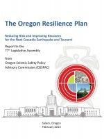 Oregon infrastructure not ready for quake, tsunami (Statesman Journal, 6/5/2014).  The Oregon resilience plan (2013) by Oregon Seismic Safety Policy Advisory Committee.