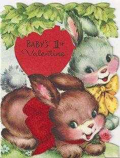Baby's 1st Valentine bunnies