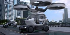 Airbus has revealed its new concept car, the Pop.Up, which can be detached from its wheeled chassis to be airlifted by an autonomous drone.
