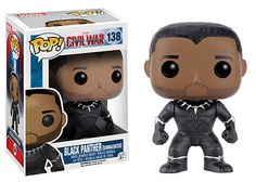 Hasbro Funko Disney Marvel Funko POP! Captain America: Civil War Series: #138 Black Panther (Prince T'Challa Unmasked) Pop! Bobble Head Vinyl Figure with Box Hasbro, Funko, Disney & Marvel 2016 http://www.amazon.com/Funko-Pop-Marvel-Captain-America/dp/B01CJ1Q3FS/ref=sr_1_1?s=toys-and-games&ie=UTF8&qid=1459979138&sr=1-1&keywords=Funko+Pop+Marvel+Captain+America%3A+Civil+War+Black+Panther+Unmasked+Exclusive+Vinyl+Bobblehead
