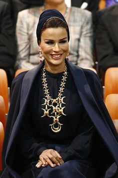Sheikha Mozah Bint Nasser Al-Missned of Qatar | 15 Insanely Fashionable Royals Who Aren't Kate Middleton