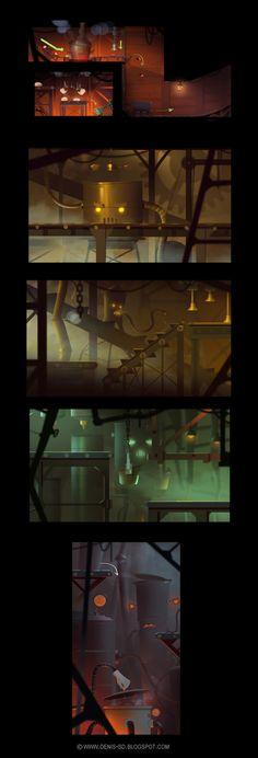 Level concepts by Denis Spichkin, via Behance