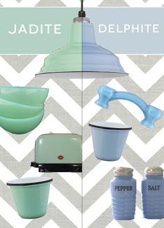 Let's talk #color! Which vintage inspired premium #pastel porcelain finish do you prefer: Jadite or Delphite?