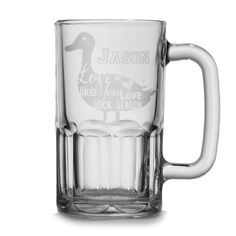 Personalized Beer Stein - Love Me Like You Love Duck Season Mug | Valentine's Day Gift | Perfect Guy Gift | Birthday Beer Stein - pinned by pin4etsy.com