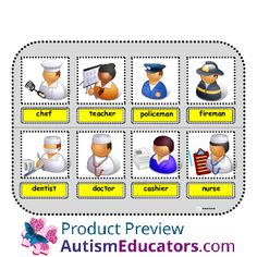 Community Helpers & What They Use: Inspired by Evan Autism Resources.