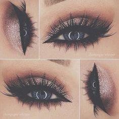 Eye Makeup Tips.Smokey Eye Makeup Tips - For a Catchy and Impressive Look Glitter Eye Makeup, Blue Eye Makeup, Kiss Makeup, Cute Makeup, Gorgeous Makeup, Pretty Makeup, Beauty Makeup, Hair Makeup, Prom Makeup