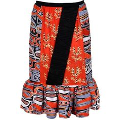PETER PILOTTO Knee length skirt ($2,685) ❤ liked on Polyvore