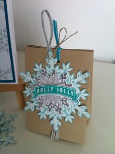 "Stampin' Up! ""Festive Flurry"" stamp set and matching Framelits"