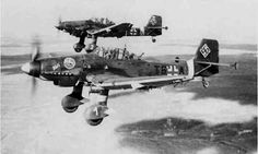 Junkers Ju 87 Stuka was the only Divebomber who could dive straight down out of the sky and drop their bombs with leathal precission