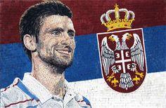 Novak Djokovic Mosaic