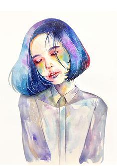 Watercolor Portrait Drawing on Behance